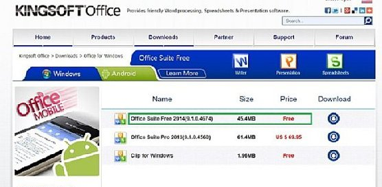 Kingsoft Office Suite Free 2014を使ってみる - Caf-Pow's blog
