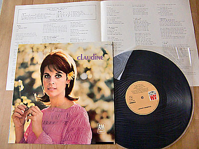 CLAUDINE LONGET / CLAUDINE ( 1967 JAPAN press ) ( LP )