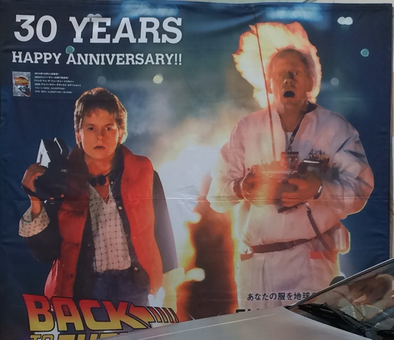 Back to the Future バック トゥ ザ フューチャー 30周年 ポスター