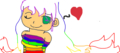 #1:Draw your own pictures about a rainbow girl or rainbow boy #2:find a picture on Google and fi