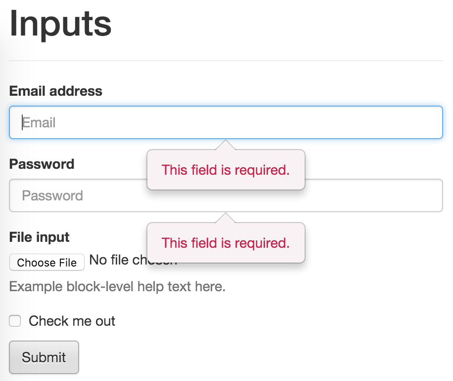 Jquery Validation Plugin Bootstrap3 Popover