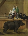 Exhibition of a Rhinoceros at Venice:Pietro Longhi