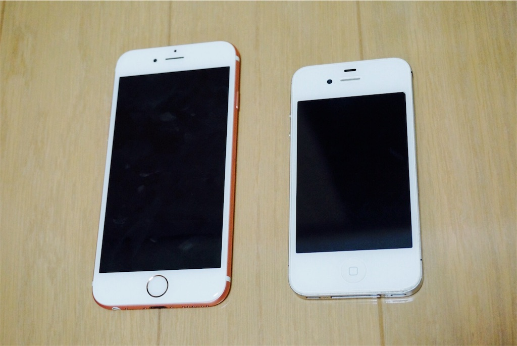 iPhone4sとiPhone6s
