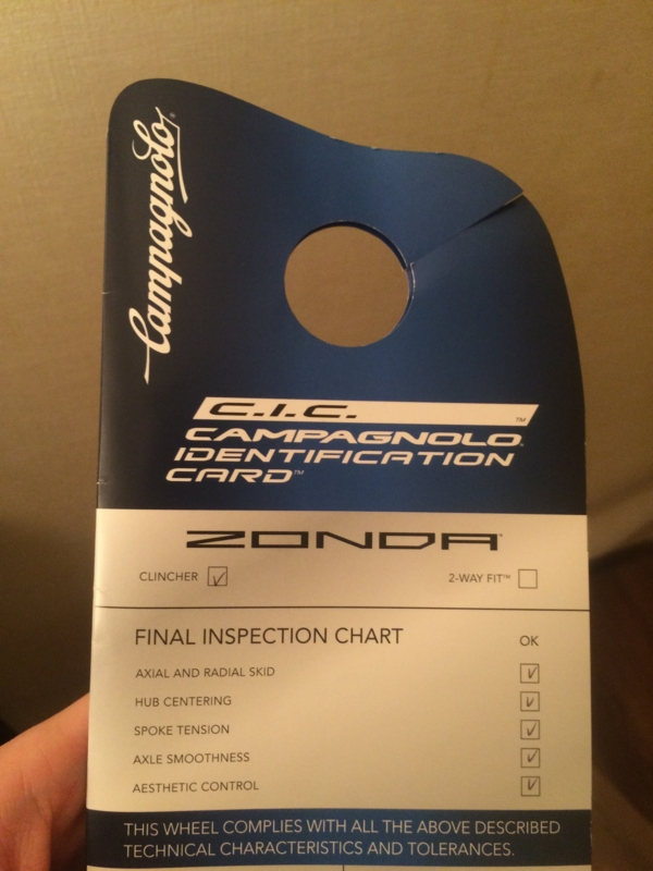 Campagnolo Identification Card
