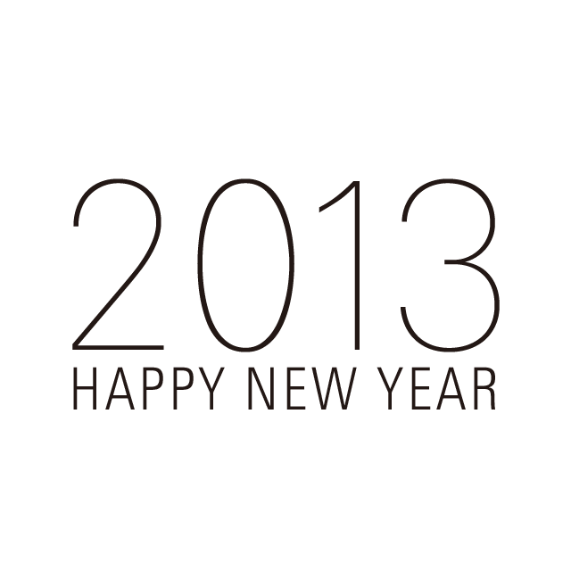 2013: Happy New Year