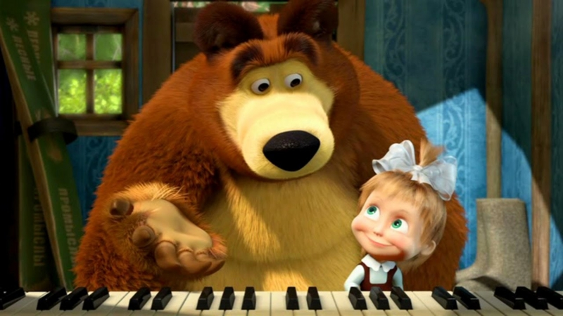 Masha and the Bear Маша и Медведь piano