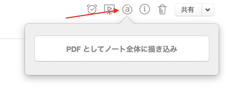 Evernoteの編集機能ボタン