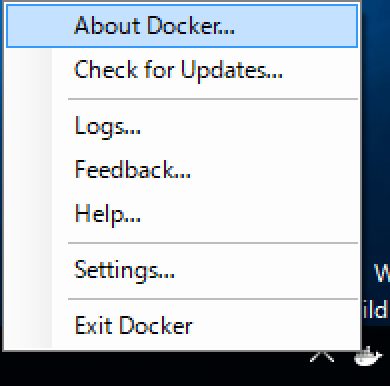 how to find the docker version
