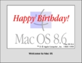 Happy Birthday - MacOS 8.6