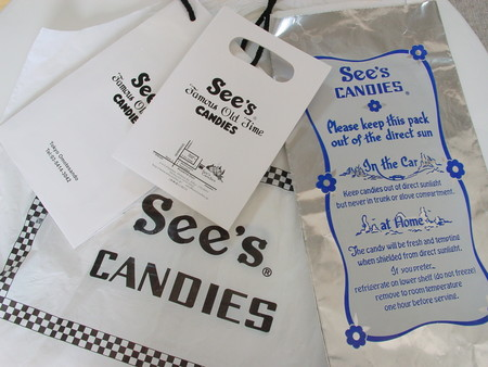 see's candy bag