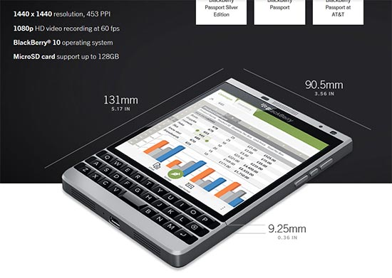 最新BlackBerry Passport LTE