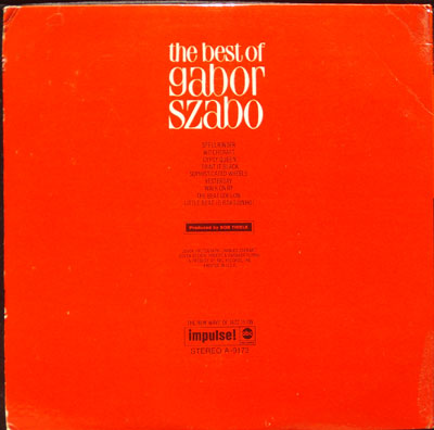 Gabor Szabo Sunshine Superman / Valley Of The Dolls