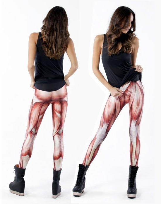 Muscle-covered leggings