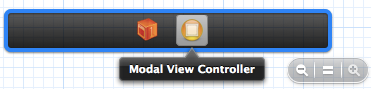 Modal View Controllerを選択