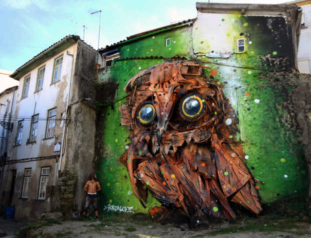 big trash animals owl