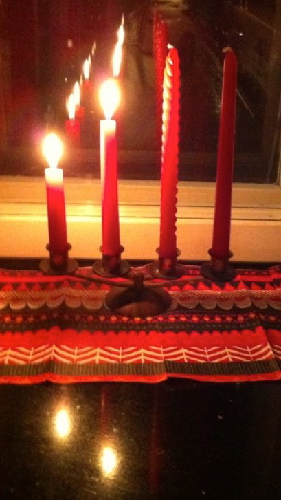 Candles on the Second Advent Sunday
