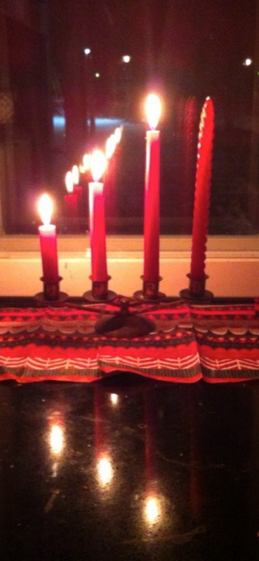 Candles on Third Advent Sunday