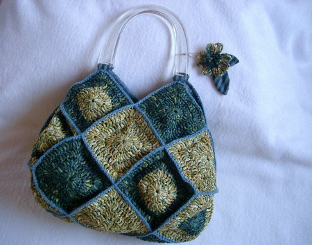 Peggy Square Knitting Patterns : Motif Bag - ishis knitting diary - ????????