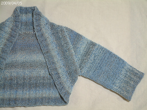 Two-Tone Ribbed Shrug