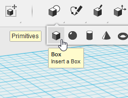 123D Design Primitives Box 使い方