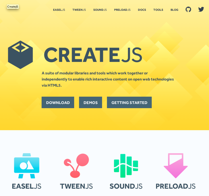 CreateJS Top Page