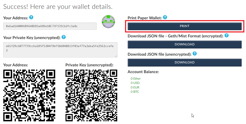 how to create an ethereum paper wallet