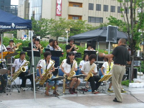 candle for japan 20110729・敬和学園高校器楽部 Jazz Hornets02