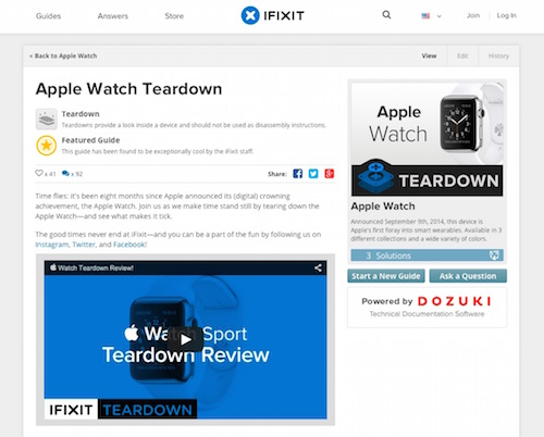 Apple Watch Teardown - iFixit
