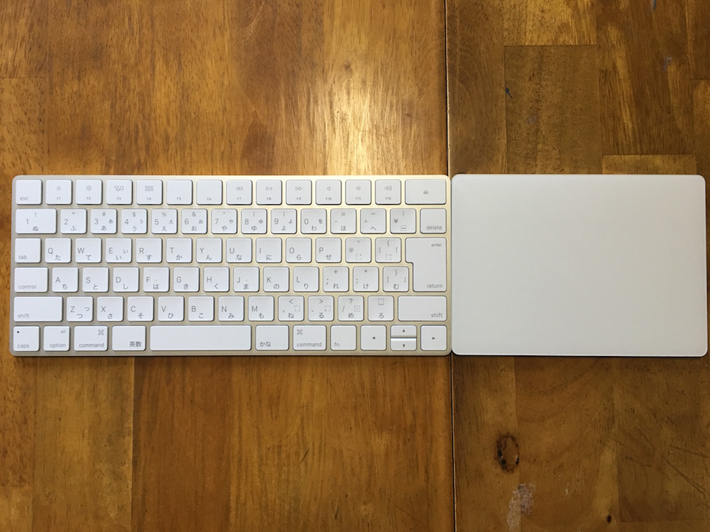 Magic KeyboardとMagic Trackpad2