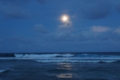 Full moon at Majuro in the Marshall Islands on September 19, 2013