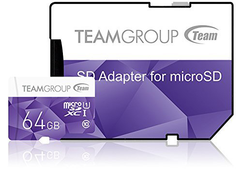 Team Micro SDHC/SDXC UHS-1 COLOR CARDシリーズ (64GB)