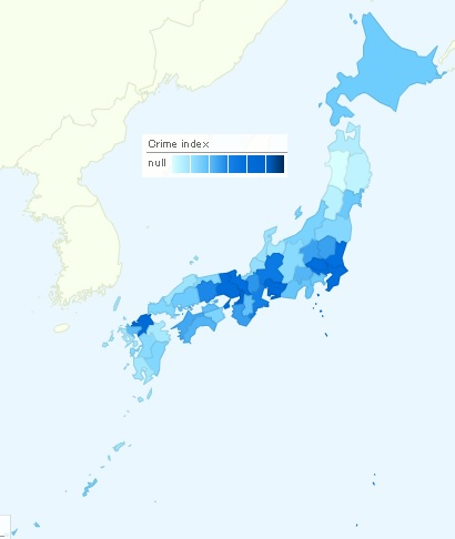 crime rates in japan Domestic violence, drug dependecy and prisons: spain's crime rate is among the lowest in europe: according to figures released by the spanish interior ministry in.