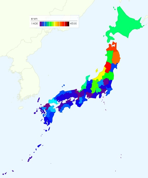 Salt and Sugar Consumption in Japan - How much is it in Tokyo? Salt Map Of Japan on coloring map of japan, climate zone map of japan, natural gas map of japan,