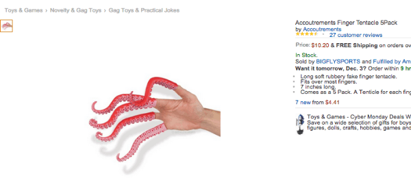 Finger Tentacles