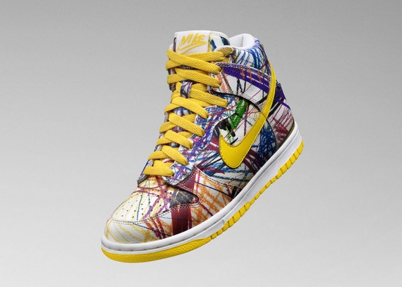 KIDS NIKE DUNK HIGH PREMIUM SCRIBBLE