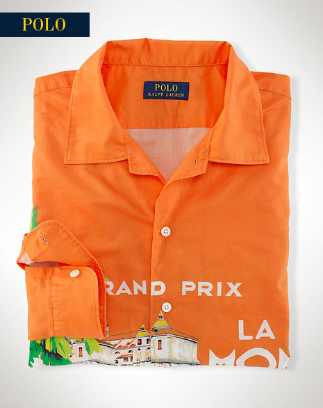 POLO RACE CAR PRINT CAMP SHIRT