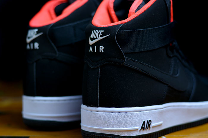 Air Force 1 High Black/Black-Bright Crimson