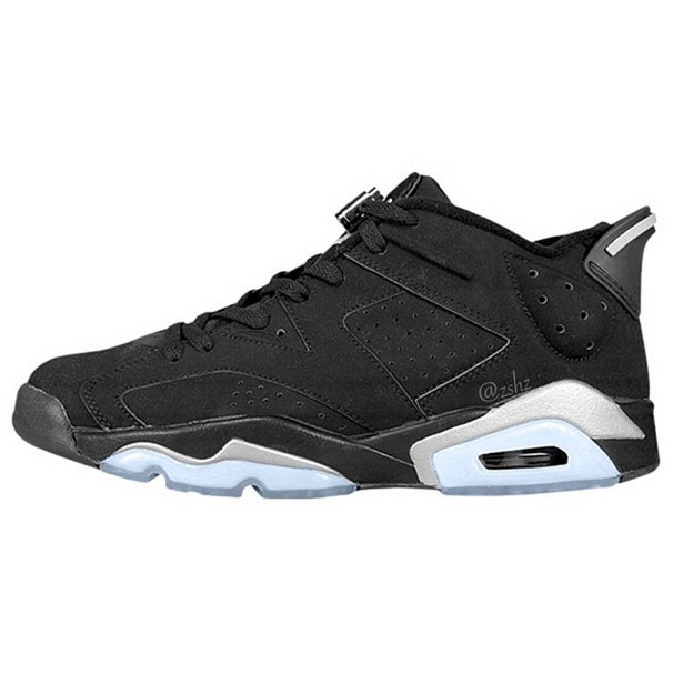 Air Jordan 6 Low Black/Metallic Silver