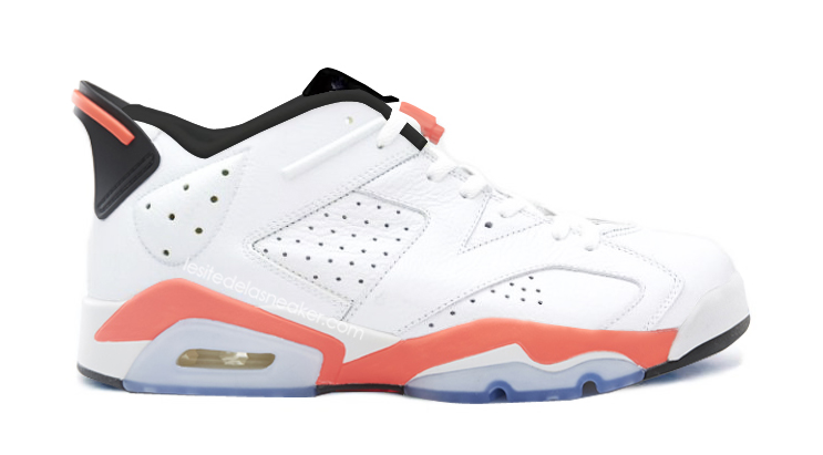 Air Jordan 6 Low White/Infrared 23-Blac
