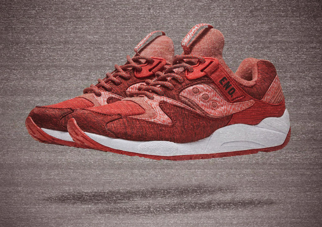 【海外12月5日発売】END. x SAUCONY GRID 9000 'RED/NOISE'