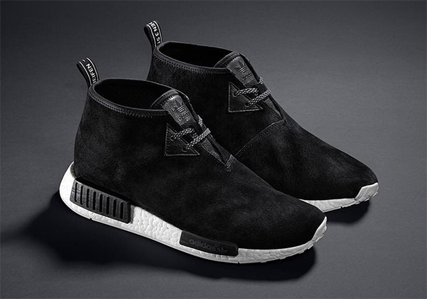 adidas NMD C1 TR Chukka Winter Black Leather S81834 9.5 US