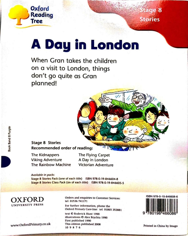 A Day in London 裏表紙 #oyakoeigo