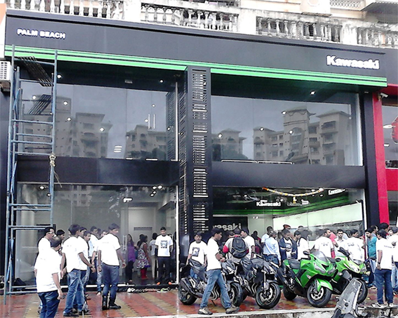 Kawasaki Showroom India
