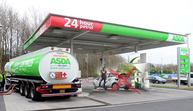 Do Not Fuel Where Petrol Tanks are filling