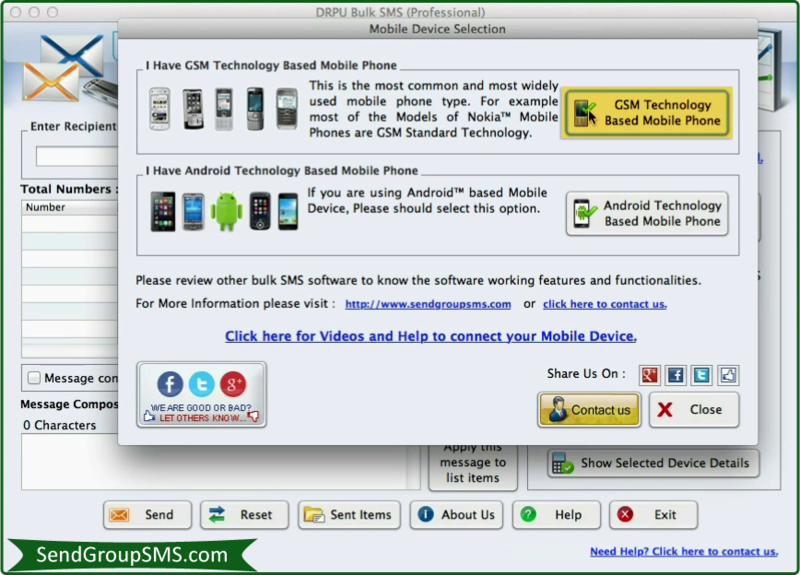 Send Group SMS Software