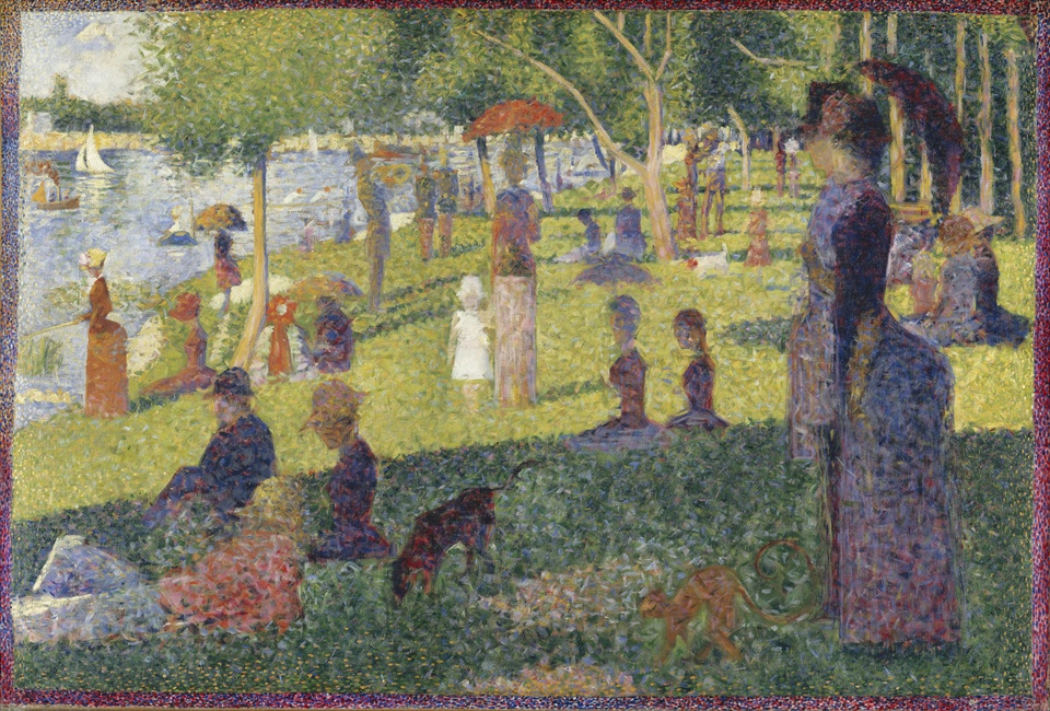 ジョルジュ・スーラの「A Sunday on La Grande Jatte」