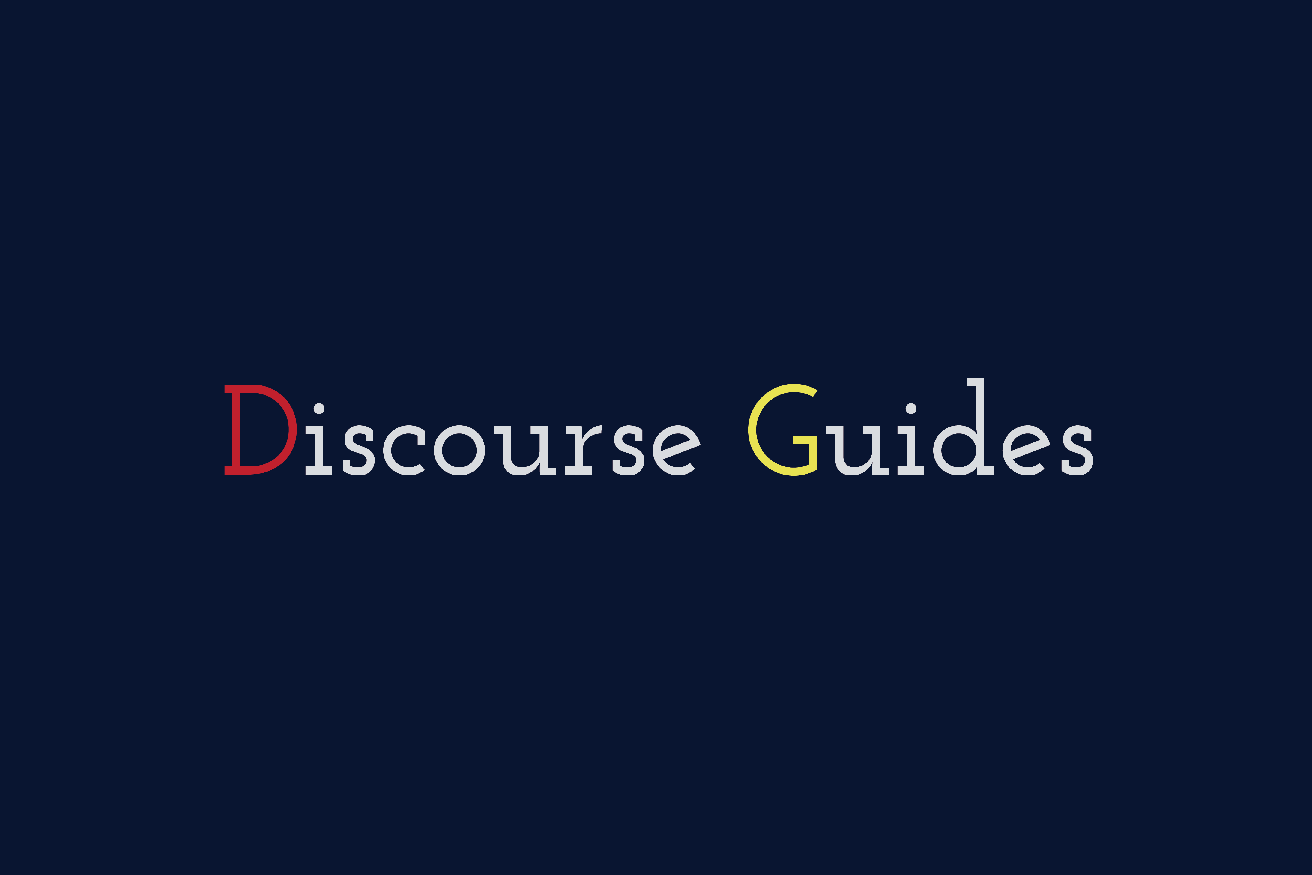 『Discourse Guides』のリンク