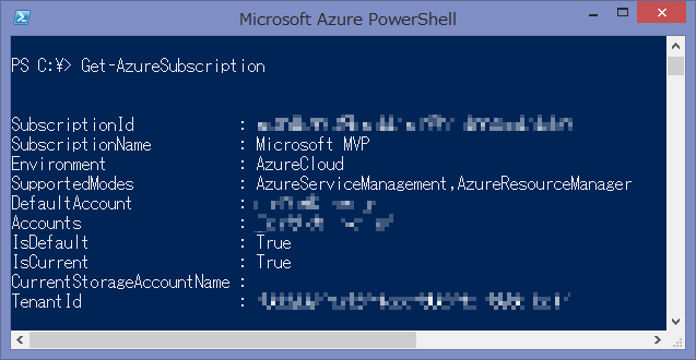 Get-AzureSubscription