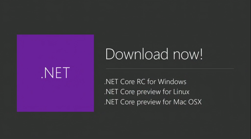 .NET Core Release Announce