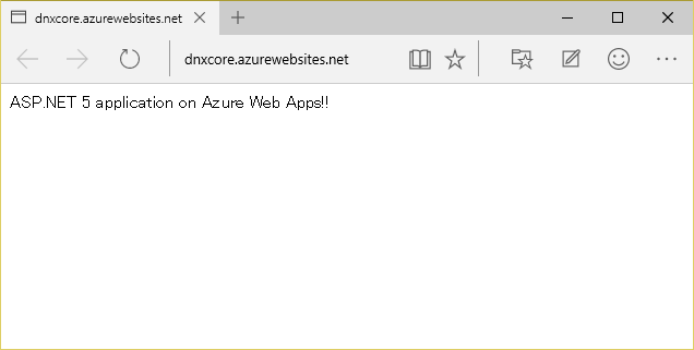 ASP.NET 5 application on Azure Web Apps